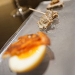 SIO - 燻玉、砂肝コンフィ、パテカン
