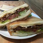 45cafe - サルサアップ。ジュワッと肉汁(*´﹃`*) 肉もしっかり味がついて美味しい♪