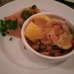 60175821 - 有田鶏の生ハムと鮮魚とレモンのさっぱりマリネ