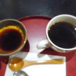 60176173 - 焼きプリンとコーヒー