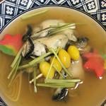 多幸八寿司 - 蒸し牡蠣