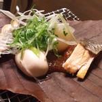 60179015 - (コース)鮭と白子の朴葉焼