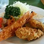 シトラス - 天使の海老と能登産牡蠣フライh28.12.18撮影