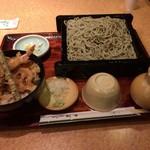 やぶそば - 江戸御膳1500円+蕎麦大盛り350円