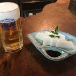 富田屋 - 生ビールと板わさ