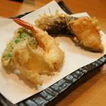 天正 - のっけ定食(880円→食べログワンコインランチ価格500円+税)2016年12月