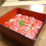 江戸庄 - 村上牛レアステーキ丼【上】