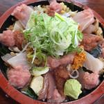 ゆたか寿司 - 海鮮ねぎとろ丼のねたダブルダブル  税込700円