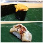 稜庵 - ◆ウニ・・小粒ですが、普通に美味しい。 ◆穴子・・フワフワ。