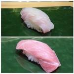 60190379 - ◆上:アラ・・身がプリプリで美味しい。                       ◆下:トロ・・上品な脂を感じ美味しい。