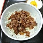 とん亭ラーメン - ミニ焼肉丼セット:400円