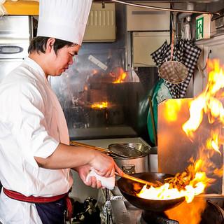 本場中国のシェフ『王さん』が作る本格中華料理をご賞味あれ♪