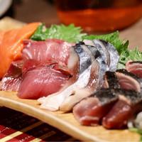 牛タンしゃぶしゃぶ・東北料理 東北商店-旬魚のお刺身五種盛り