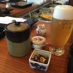 天ぷら 佐久間 - ビール