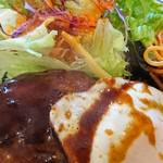 洋食 ひなた - メイン(アップ):デミグラスハンバーグ定食