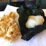天ぷら 佐久間 - のり山いも