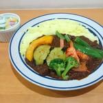60195574 - ポーク野菜かれー 950円(税込)+ターメリック日本米大盛100円