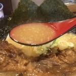 花丸軒 - 豚骨醤油スープ