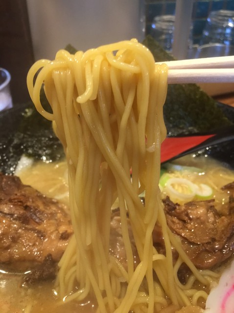 花丸軒 難波・法善寺店 - 中細ストレート麺