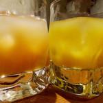 旬彩 しんすけ - にごりもも酒[果実分43%]にごりマンゴー酒[果実分18%]