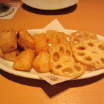 YEBISU BAR - 山芋の米粉揚げ 626円