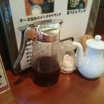 あきん - テーブルの」調味料たち