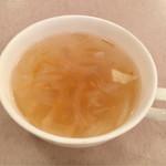 洋食の老舗 美松 - カキフライに付いてきたスープ