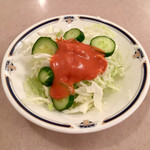 洋食の老舗 美松 - カキフライに付いてきたサラダ