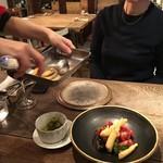 organ - 2016.12.9ヒラメのフリット茄子、トマト、葉野菜のサラダ①