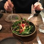 organ - 2016.12.9ヒラメのフリット茄子、トマト、葉野菜のサラダ④