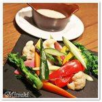 60210217 - 季節のこだわり野菜をセレクトした庭園バーニャカウダ
