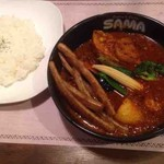 SAMA - ポーク野菜カリー+ゴボウスティック