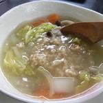 60213509 - 薬膳スープに焼きおにぎり