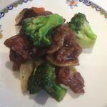 中国料理 桃花林 - [蘭花牛肉] 牛肉とブロッコリーの炒め