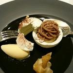 メゾン タテル ヨシノ - モンブラン ラム酒の香るグラスと共に