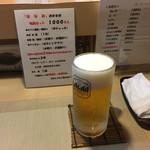 せなみ・居酒屋 - 晩酌セットの生ビール