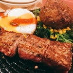 PICANHA - 旨味牛とハンバーグ1600円