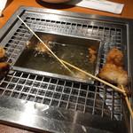 串家物語 - 席ごとに、自分で揚げる方式。揚げたてをいただけます。