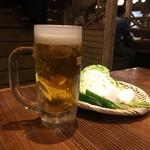 宮崎県日南市 塚田農場 - 生ビール、390円です。
