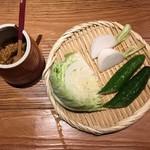 宮崎県日南市 塚田農場 - お通し、390円です。