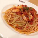 イタリアン・トマト カフェジュニア - ランチセット[小海老とツナのトマトソースパスタ](850円)を頂きました。
