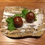 宮崎県日南市 塚田農場 - 肉巻きおにぎり、300円です。