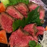 道後Cafe&Bar ゆのか - 赤身牛肉のタタキ