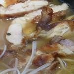 麺処 鳴神 - 鶏の燻製