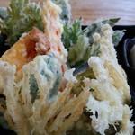 清水そば そば峠 - 野菜天ぷら。