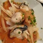 浜の牡蠣小屋 - 牡蠣ポン酢