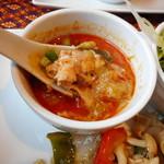 60230774 - トムヤンクン味のスープ(ランチにセット)