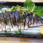 Mekikinoginji - 鯖-炙り漬け薬味刺し