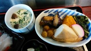 喜多亭 - 「おまかせ定食」の茶碗蒸し&いろいろ