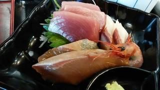 喜多亭 - 「おまかせ定食」のお刺身
